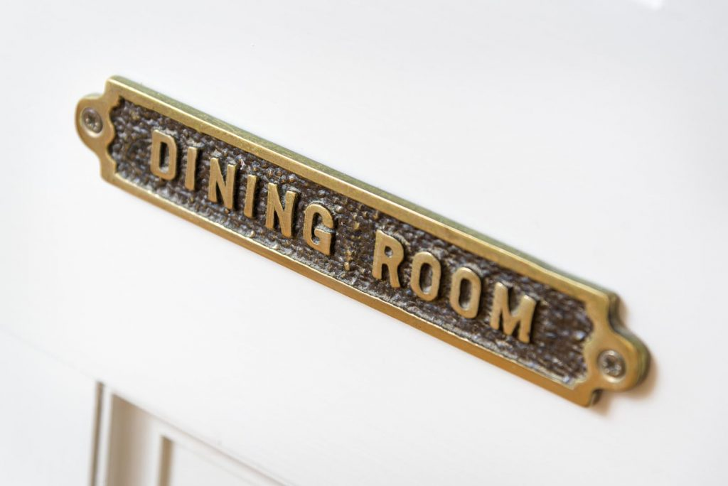Dining Room sign at Bramblewood Cottage, 4 star guest house in Keswick