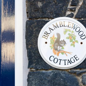 Bramblewood Cottage sign, 4 star guest house in Keswick