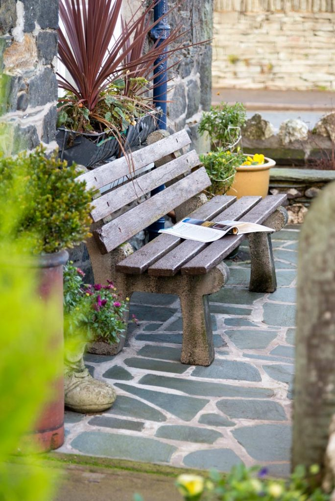 Outdoor seating at Bramblewood Cottage, 4 star guest house in Keswick